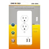 WALL PLATE COVER 2 USB PORTS
