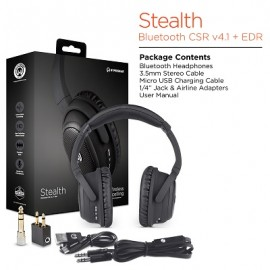 Stealth Wireless Headphones- Active Noise Cancelling